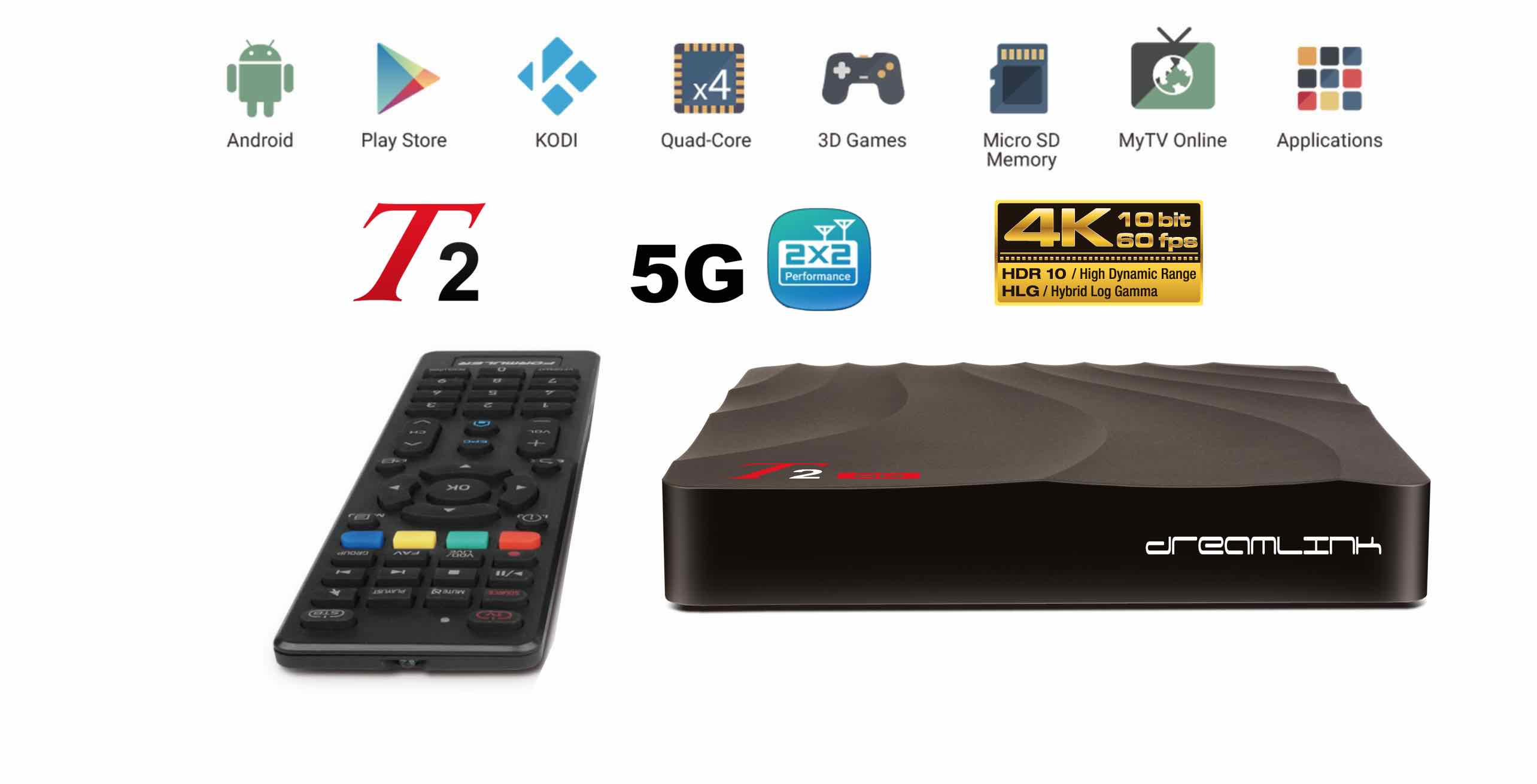 New Generation Dreamlink T2 5G Dual Band IPTV Set Top Box & Smart TV  Android 7 OS